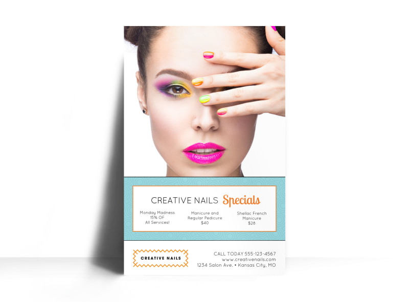 Nail Salon Advertising Specials Poster Template MyCreativeShop