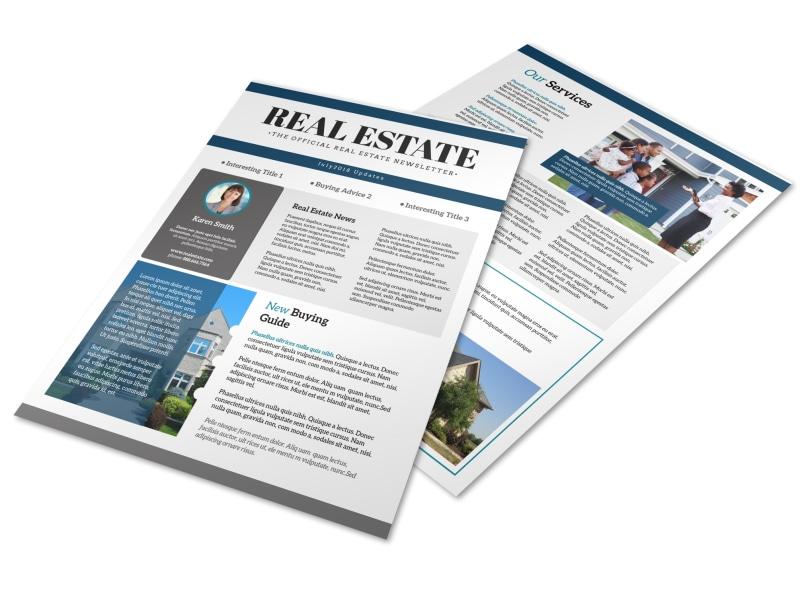 Simple Real Estate Newsletter Template MyCreativeShop
