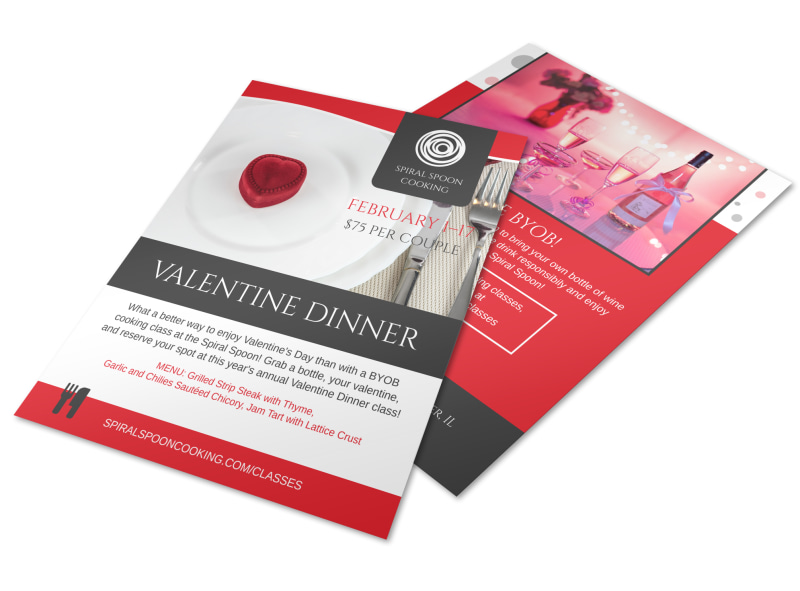 Valentine Dinner Flyer Template MyCreativeShop - Dinner Flyer