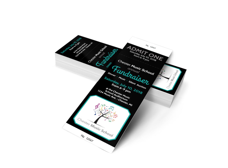 Special Event Fundraiser Ticket Template MyCreativeShop - fundraising ticket templates