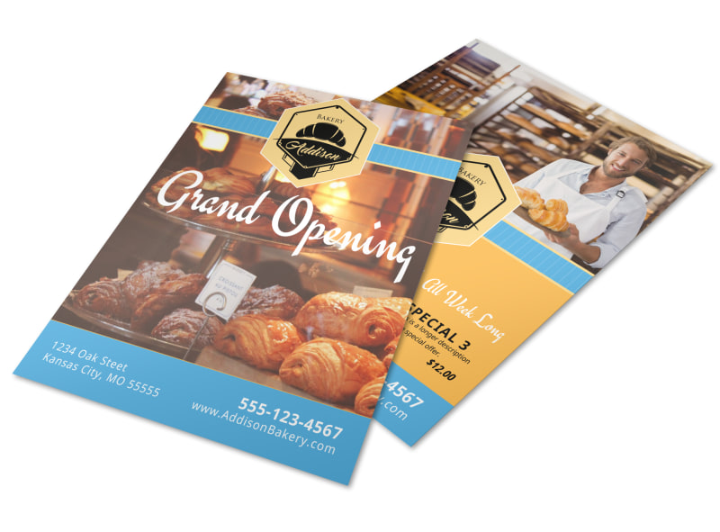 Bakery Grand Opening Flyer Template MyCreativeShop - Grand Opening Flyer