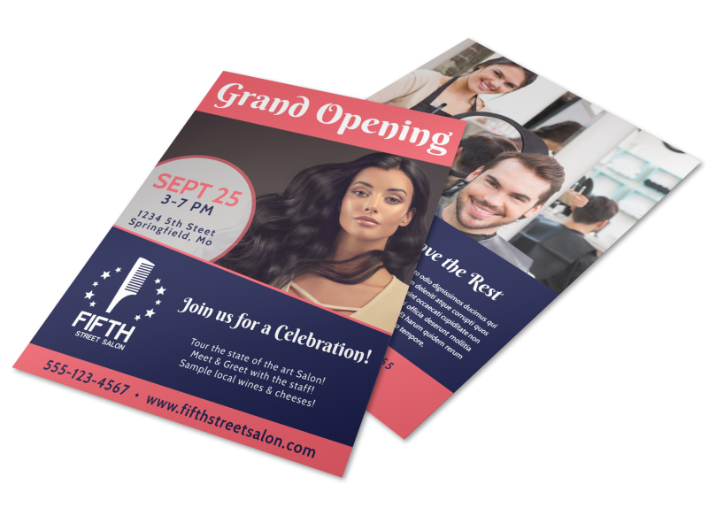 Hair Salon Grand Opening Flyer Template MyCreativeShop - Grand Opening Flyer