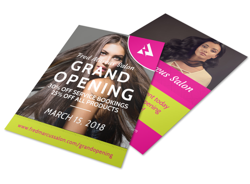 Salon Grand Opening Flyer Template MyCreativeShop