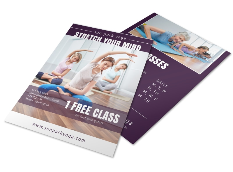 Yoga Class Studio Flyer Template MyCreativeShop