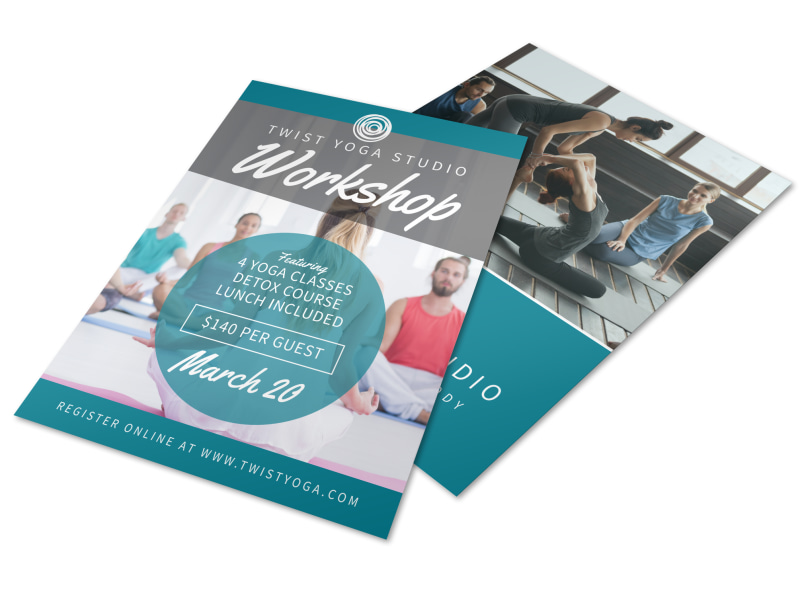 Yoga Fitness Workshop Flyer Template MyCreativeShop