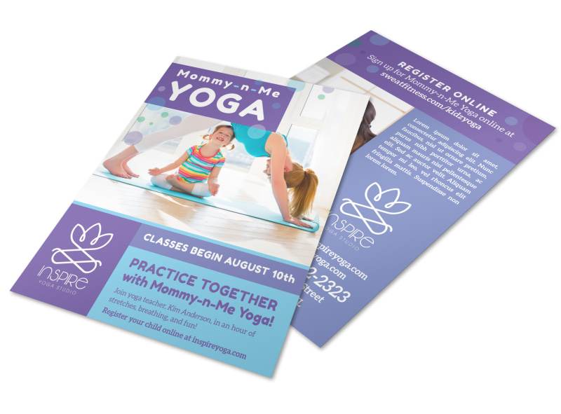 Mom  Kids Yoga Flyer Template MyCreativeShop - yoga flyer