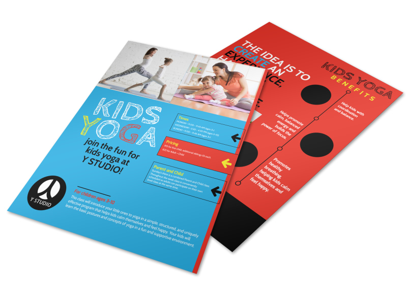 Playful Kids Yoga Flyer Template MyCreativeShop - yoga flyer