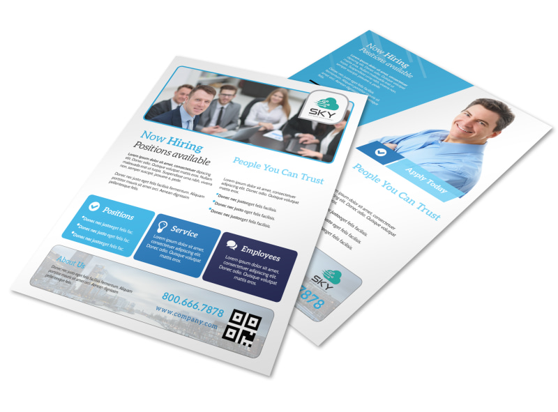 Professional Now Hiring Flyer Template MyCreativeShop - hiring flyers template
