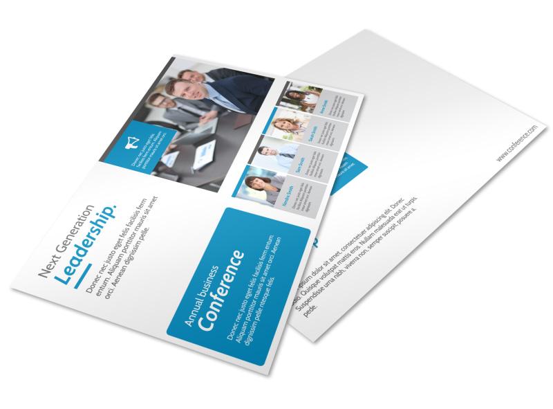Conference Invitation Postcard Template MyCreativeShop