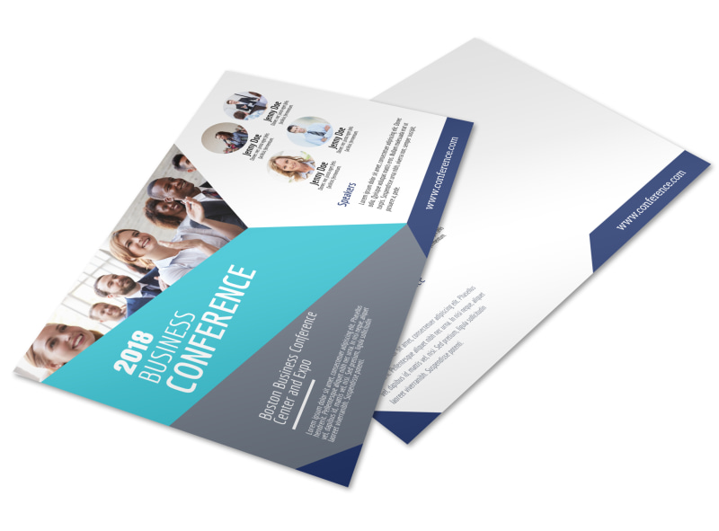 Business Conference Invitation Postcard Template MyCreativeShop