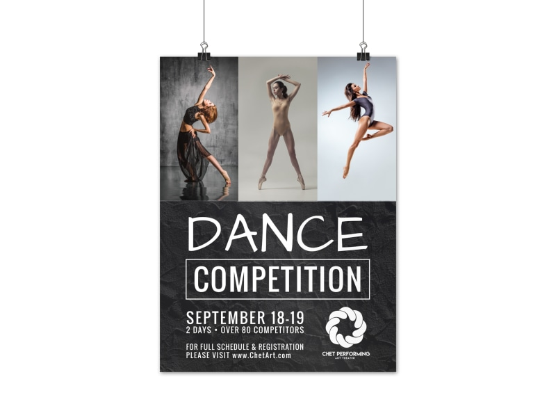 Dance Competition Poster Template MyCreativeShop