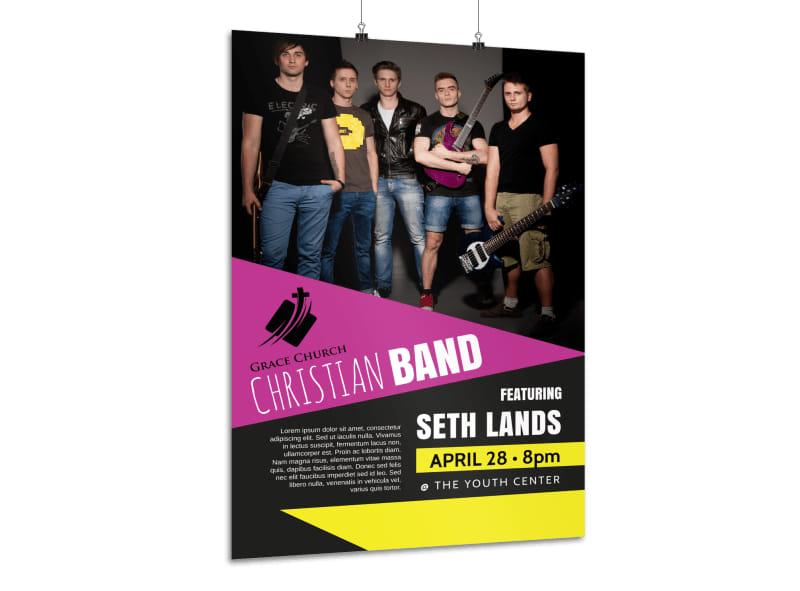 Church Band Concert Poster Template MyCreativeShop