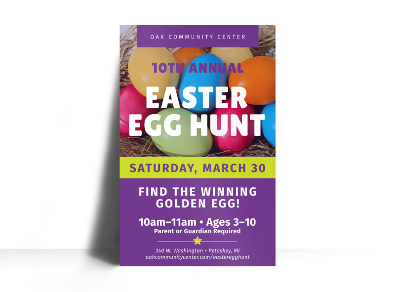 Annual Easter Egg Hunt Poster Template MyCreativeShop