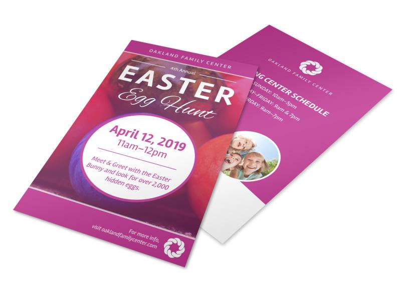 Pink Easter Egg Hunt Flyer Template MyCreativeShop