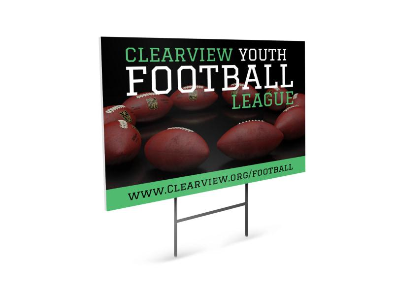 Youth Football Yard Sign Template MyCreativeShop