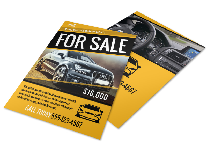 Car For Sale Flyer Template MyCreativeShop