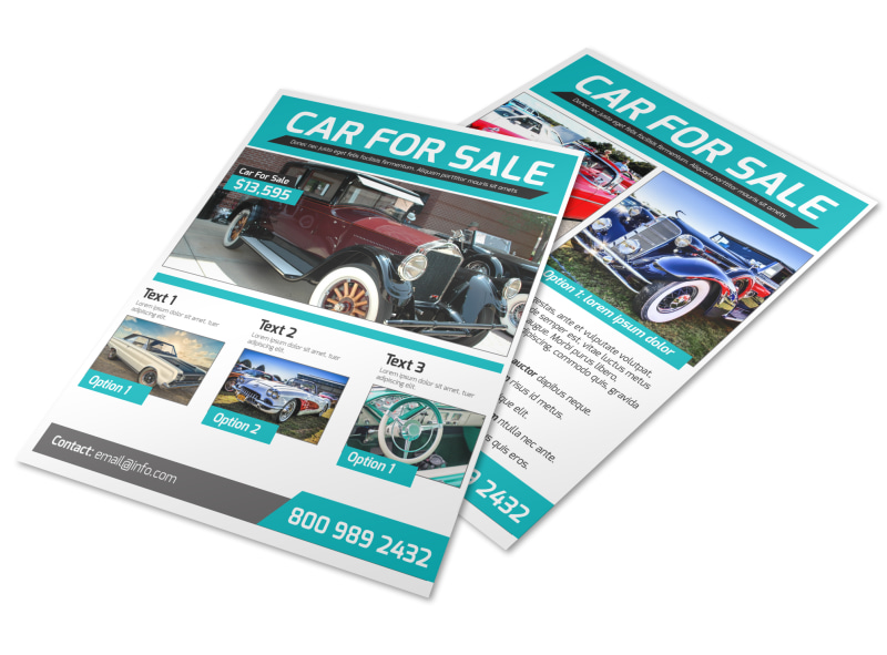 Classic Car For Sale Flyer Template MyCreativeShop - car sale flyer template