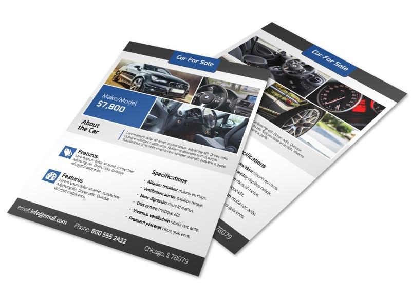 Modern Car For Sale Flyer Template MyCreativeShop - car sale flyer template