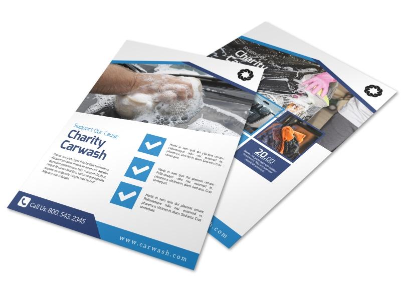 Charity Car Wash Fundraiser Flyer Template MyCreativeShop