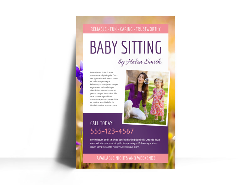 baby sitting posters - Pinarkubkireklamowe