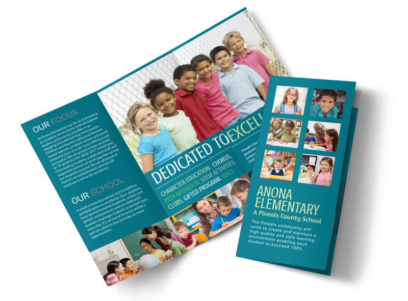 Elementary School Tri-Fold Brochure Template MyCreativeShop