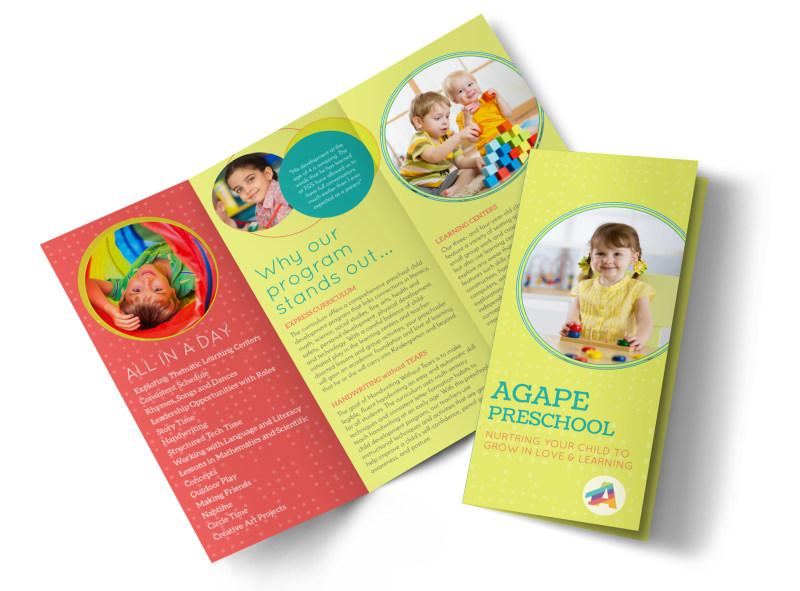 Agap Preschool Tri-Fold Brochure Template MyCreativeShop - sample preschool brochure