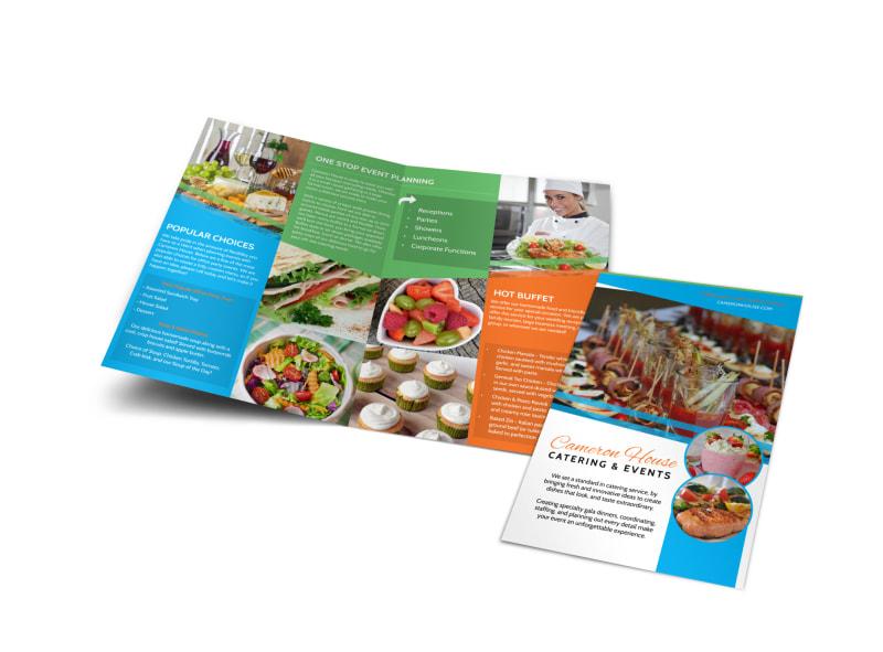 Catering  Events Bi-Fold Brochure Template MyCreativeShop