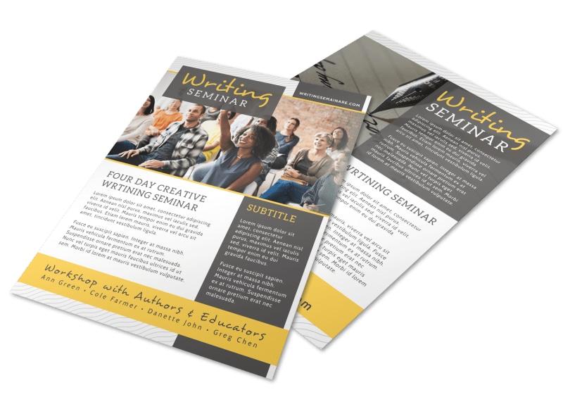 Seminar Flyer Templates MyCreativeShop