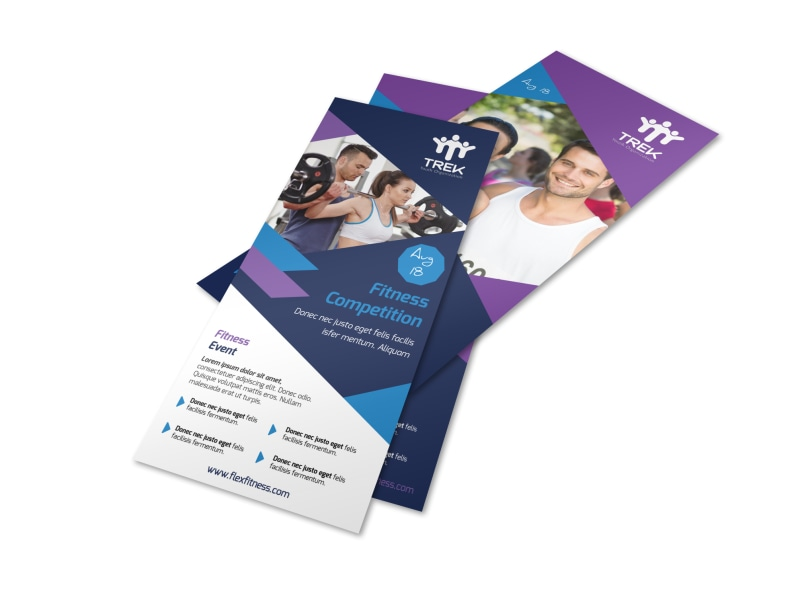 Blue Fitness Competition Flyer Template MyCreativeShop - competition flyer template