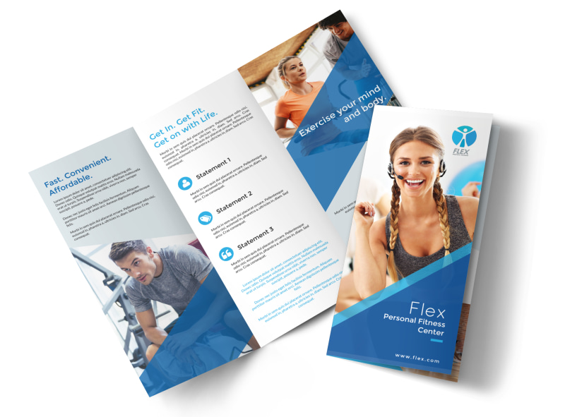 Classic Fitness Tri-Fold Brochure Template MyCreativeShop - Fitness Brochure