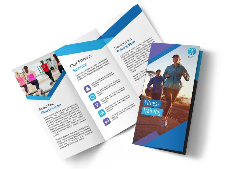 Fitness Training Tri-Fold Brochure Template MyCreativeShop - Fitness Brochure