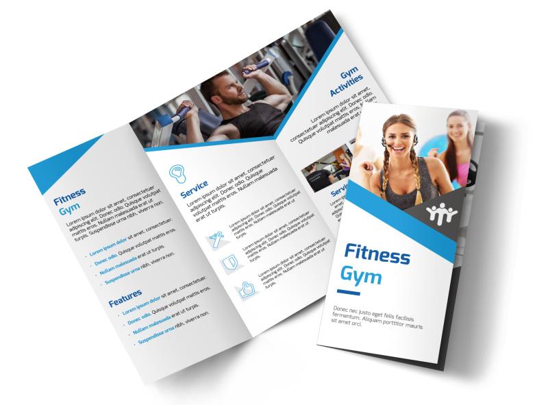 Edge Fitness Gym Tri-Fold Brochure Template MyCreativeShop