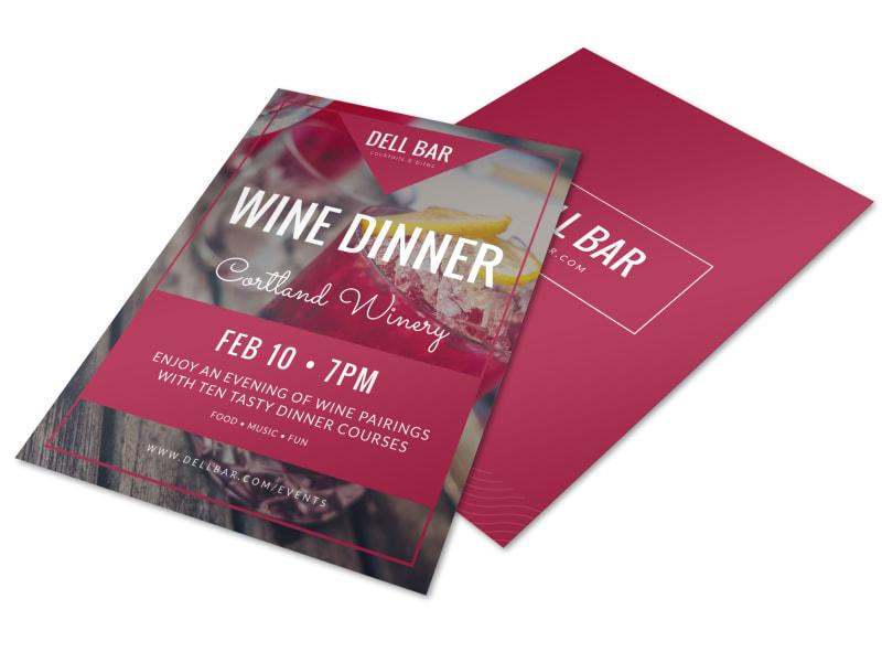 Wine Dinner Flyer Template MyCreativeShop