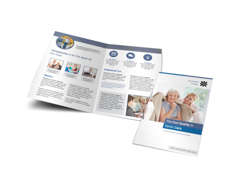 Clean Assisted Living Bi-Fold Brochure Template MyCreativeShop