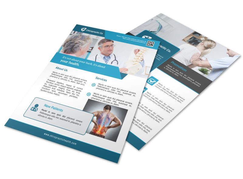 Blue Chiropractic Flyer Template MyCreativeShop
