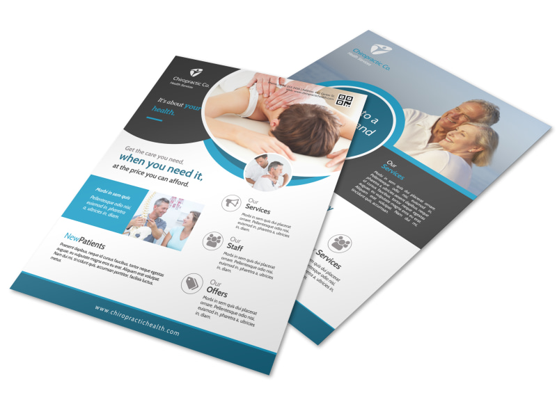 awesome chiropractic flyer template mycreativeshop