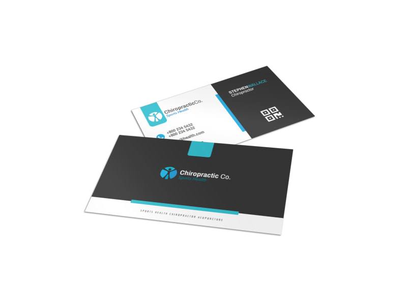 Chiropractic Business Card Templates MyCreativeShop