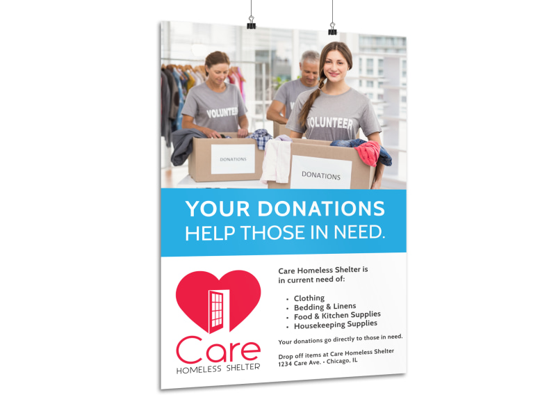 Charity Donation Poster Template MyCreativeShop