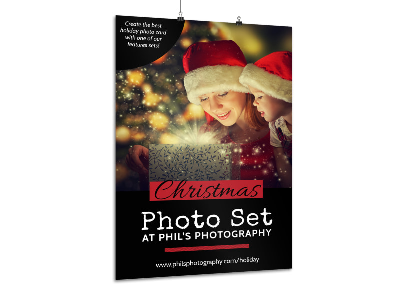 Christmas Photo Set Poster Template MyCreativeShop