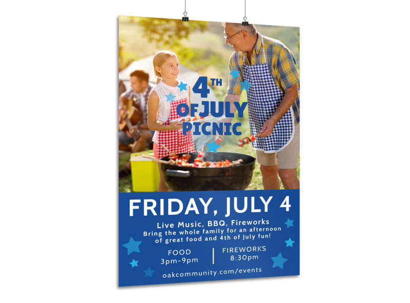 4th Of July Picnic Poster Template MyCreativeShop - 4th of july template