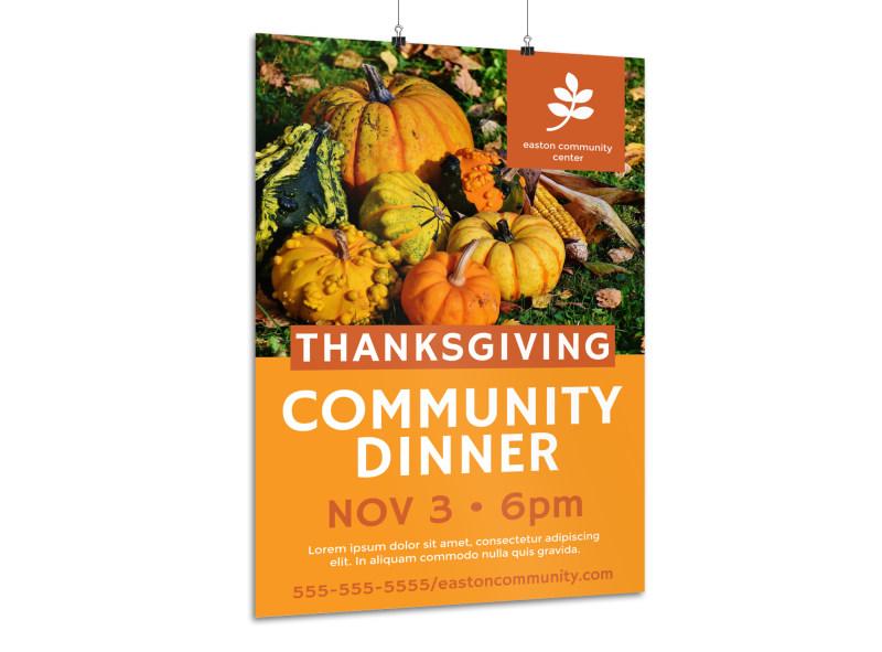 Thanksgiving Poster Templates MyCreativeShop