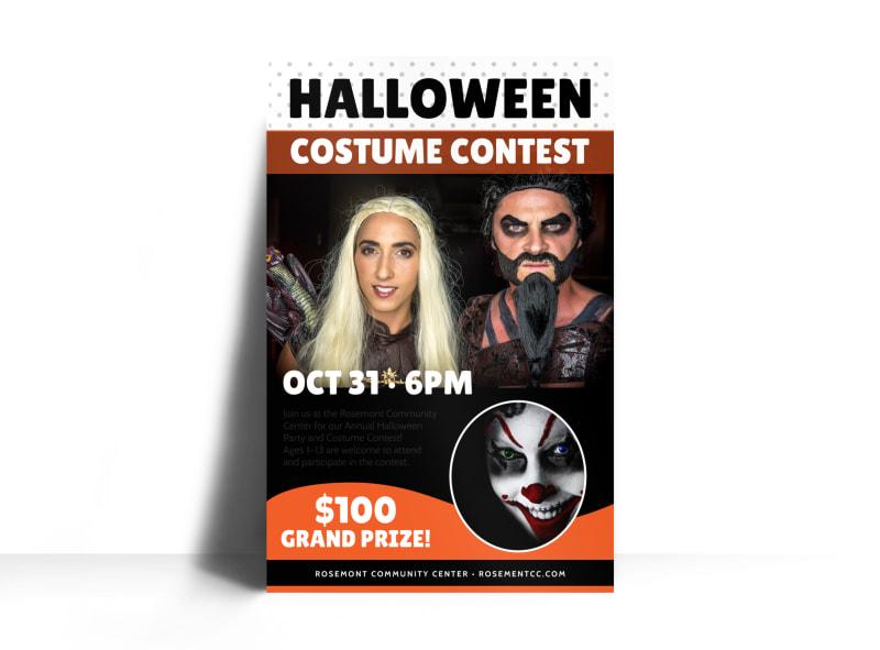 Halloween Costume Contest Poster Template MyCreativeShop