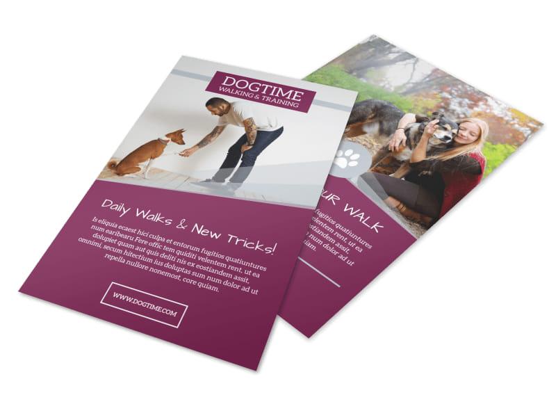 Dogtime Dog Walking Flyer Template MyCreativeShop