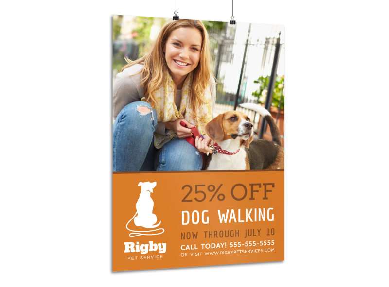 Promotional Dog Walking Poster Template MyCreativeShop