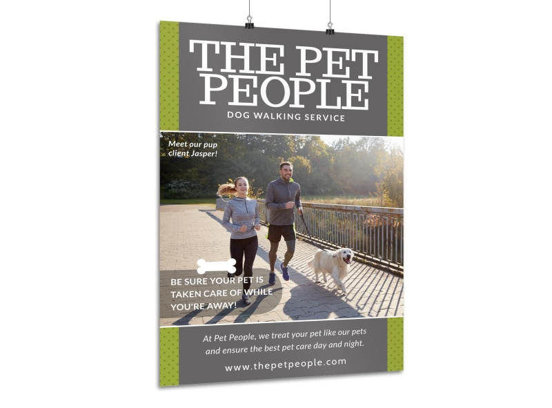 Pet People Dog Walking Poster Template MyCreativeShop