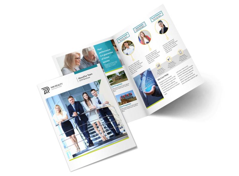 Professional Real Estate Team Bi-Fold Brochure Template MyCreativeShop
