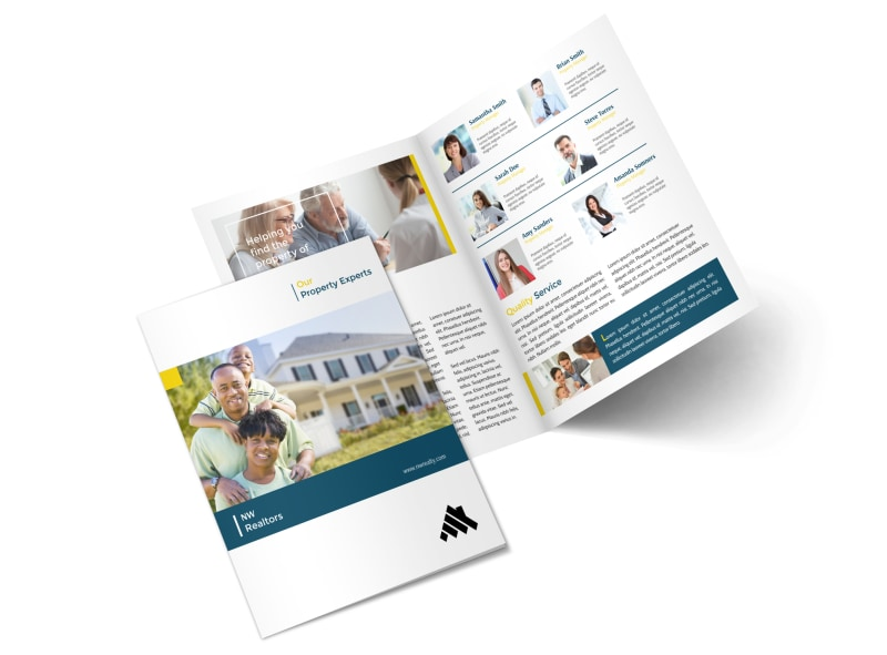 Real Estate Agency Team Bi-Fold Brochure Template MyCreativeShop