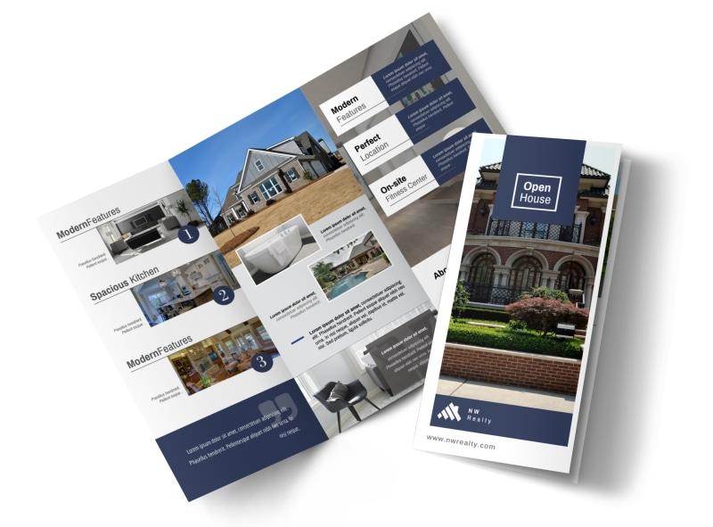 Real Estate Open House Tri-Fold Brochure Template MyCreativeShop