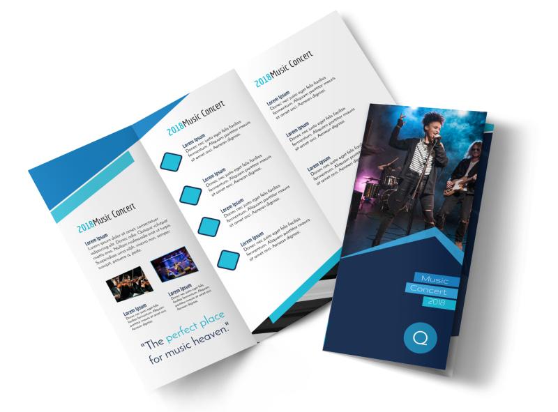 Music  Arts Brochure Templates MyCreativeShop