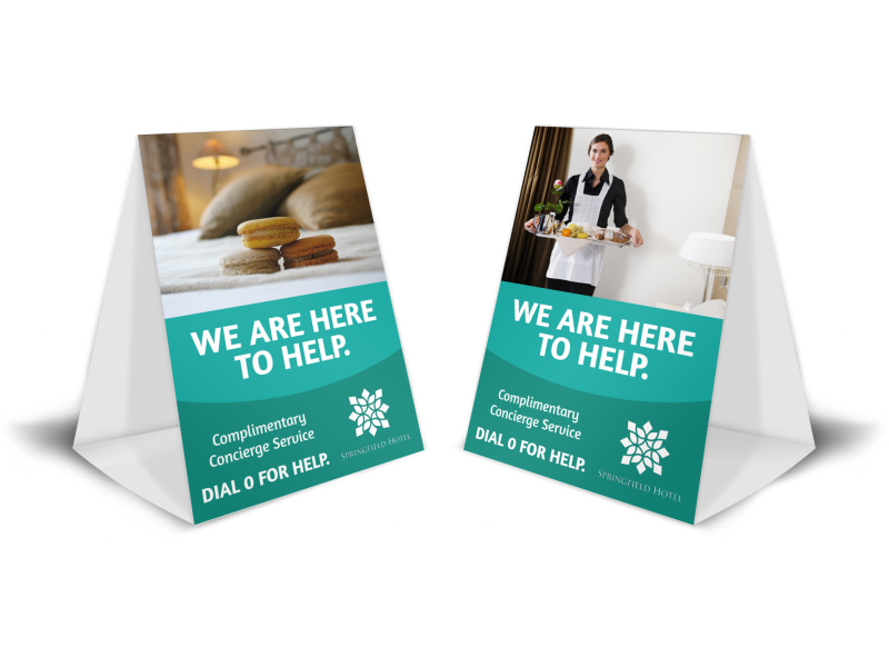 Hotel Guest Service Table Tent Template MyCreativeShop - table tent template